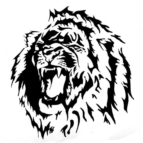 magnificent tribal lion tattoo  tribal