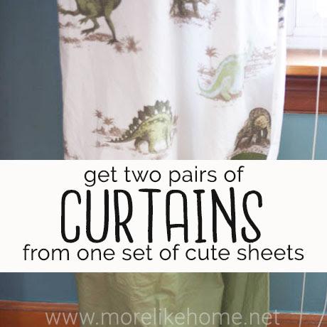 dinosaur curtains