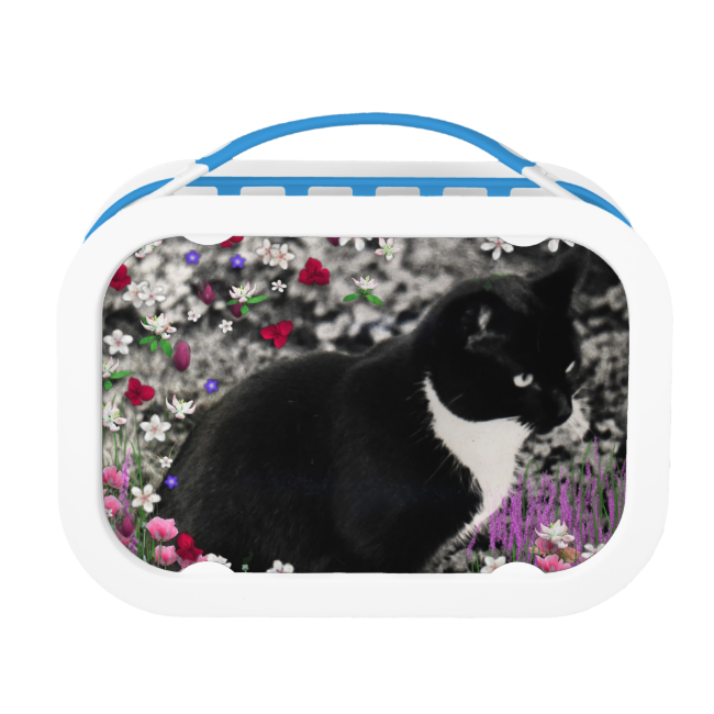 Freckles in Flowers II, Tuxedo Kitty Cat Yubo Lunchboxes