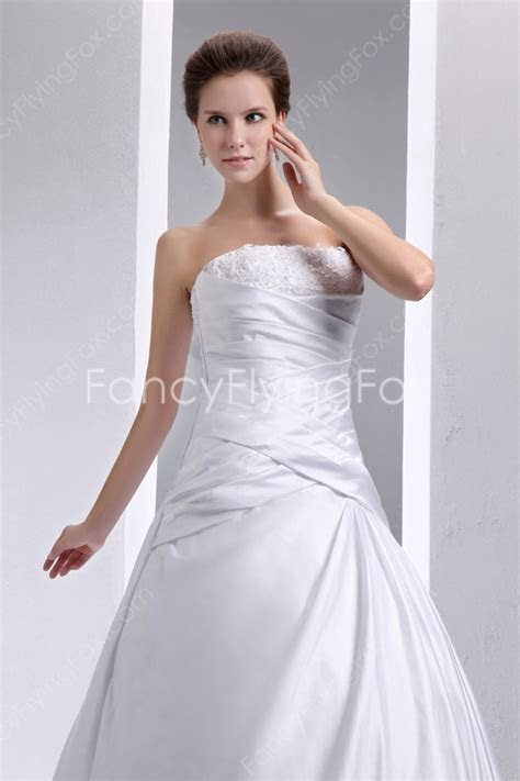 Strapless Ball Gown Wedding Dress with Satin Corset Bodice