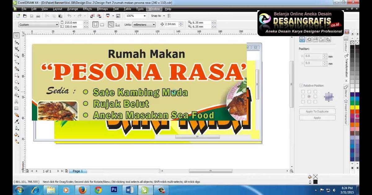 Desain Spanduk Banner Rumah Makan Padang - gambar spanduk