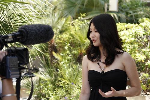 Fooi Mun getting interviewed