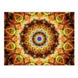Ochre Burned Glass kaleidoscope Postcard