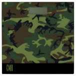 Monogram Camouflage Design Bathroom Scale