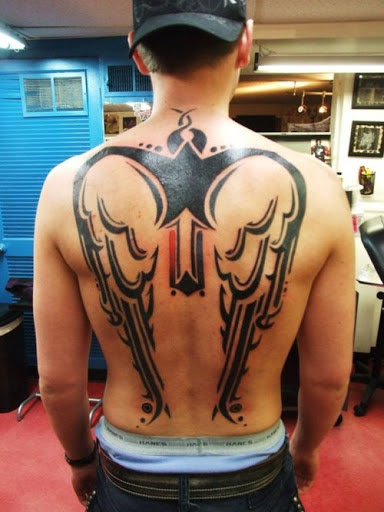 Good Tribal Wing Back Tattoos For Men Tattoomagz