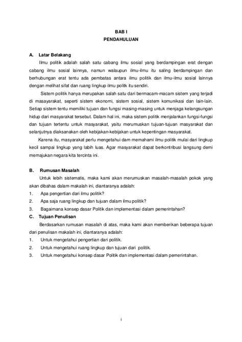 bab  pendahuluan latar belakang masalah contoh teks