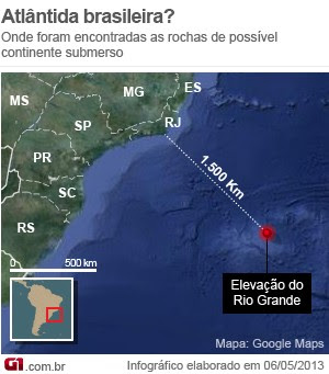 continente submerso no brasil