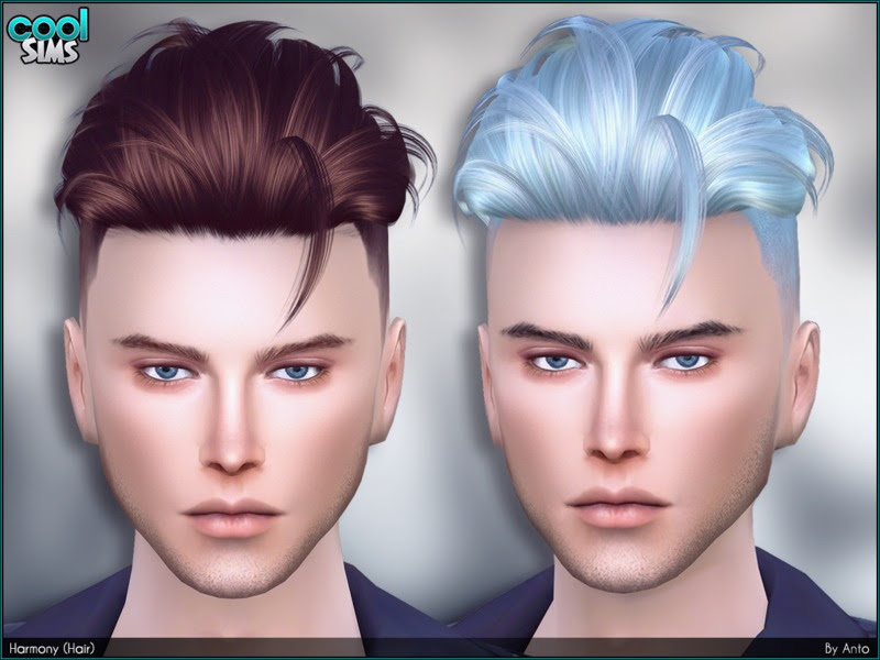 Sims 4 Hairs ~ The Sims Resource: Harmony Hair by Anto