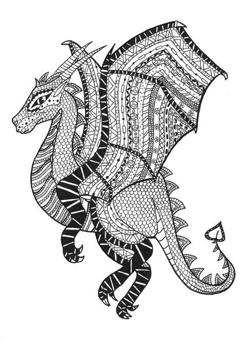 amazing  dangerous zentangle dragon