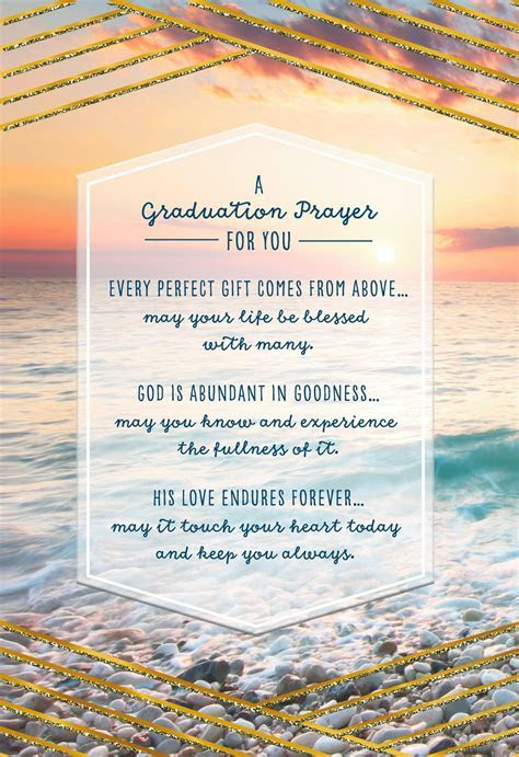 Prayer for You Religious Graduation Card   Greeting Cards