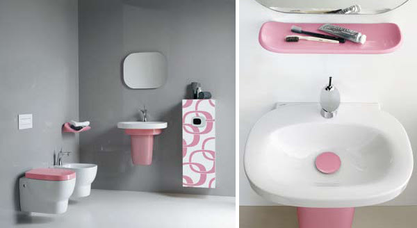 Pink Bathrooms & Pink Bathroom Ideas by Laufen | Modern Interiors
