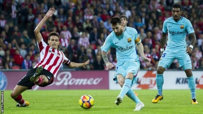 Lionel Messi Scores As Barcelona Beat Athletic Bilbao 2-0 To Stay Unbeaten In The League