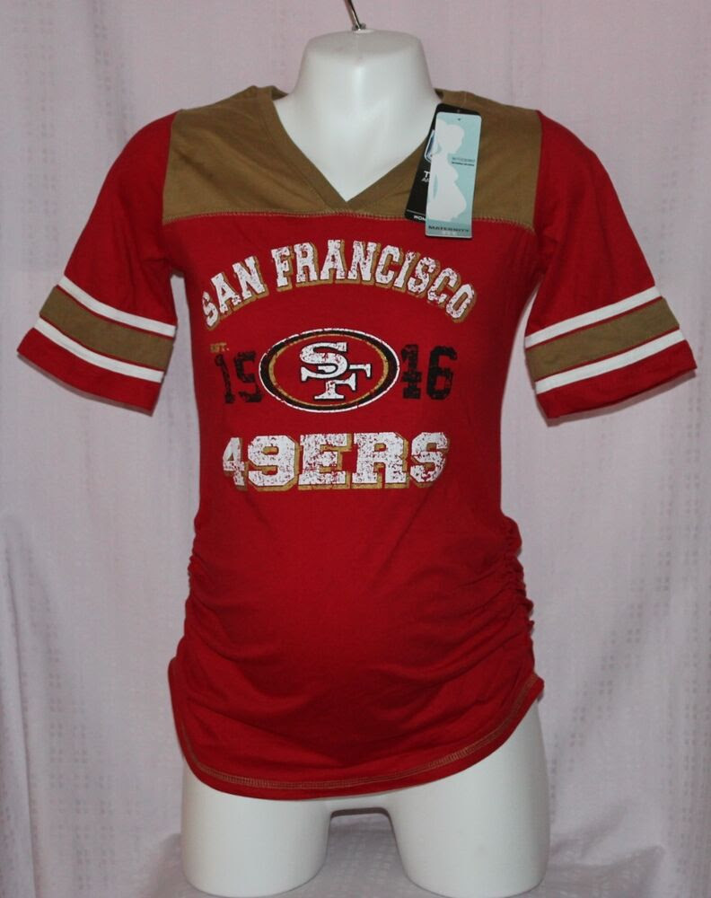 NFL Apparel Motherhood Womens San Francisco 49ers Maternity VNeck TShirt M  eBay
