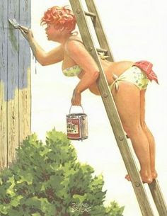 Paint pin up