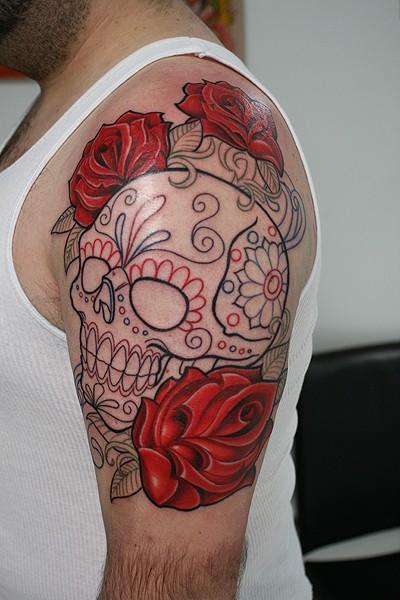 25 Sugar Skull Tattoo Designs