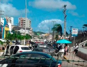 Perseguição terminou na avenida Salgado Filho (Foto: Sérgio Henrique Santos/G1)
