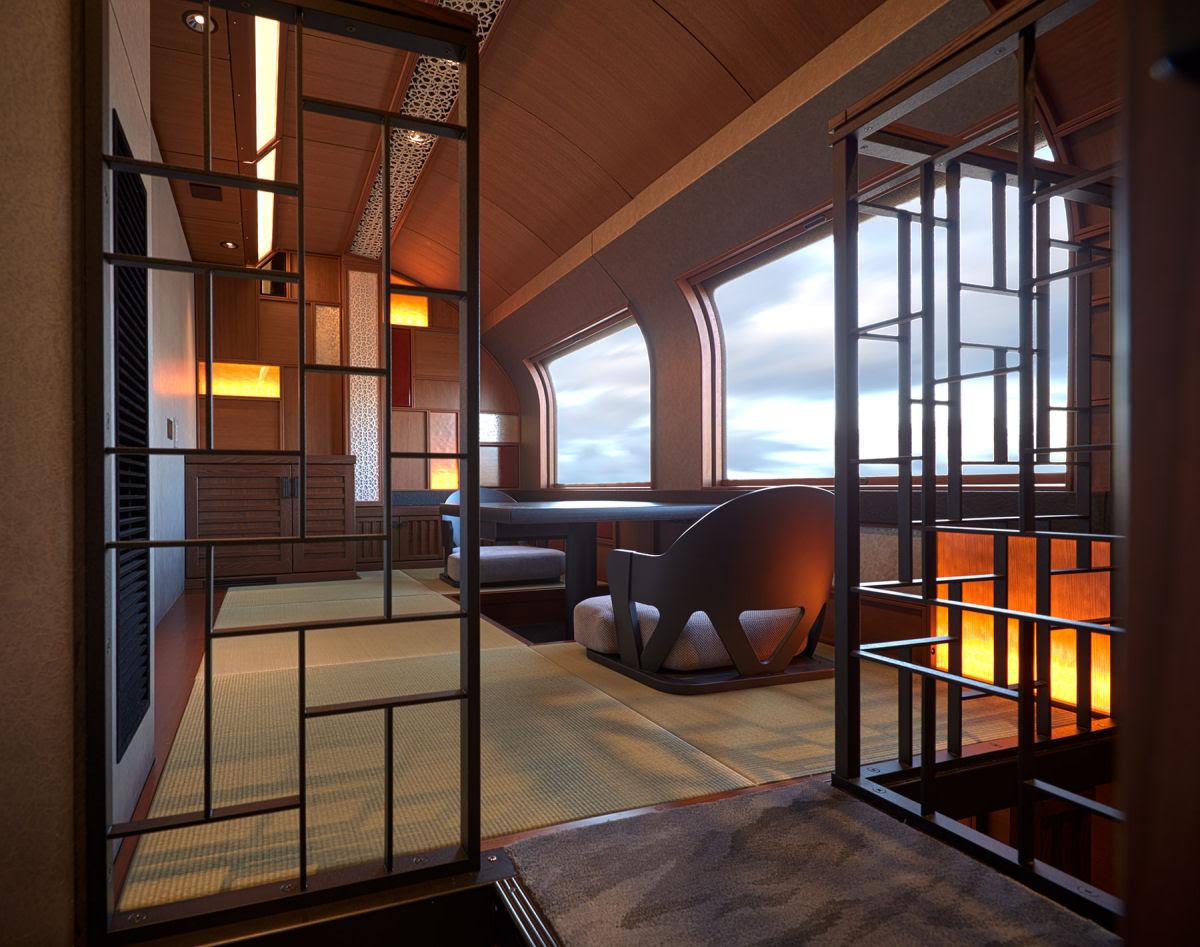 O interior do Shiki-shima: o trem mais luxuoso do mundo que atravessa o Japão 12