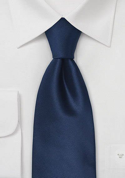 Solid Dark Blue Silk Tie   Bows N Ties.com