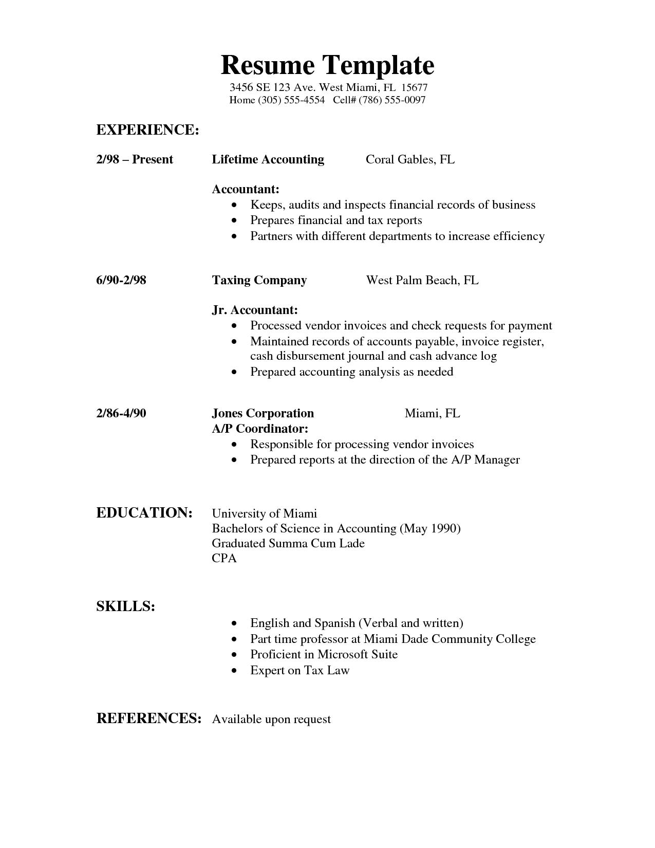 [LR] Resume Examples 3  Letter  Resume