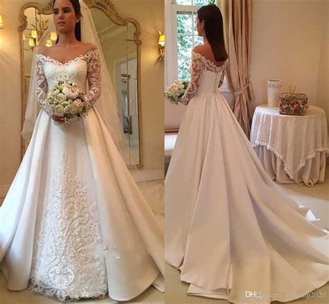 Discount 2018 Elegant White A Line Wedding Dresses Off