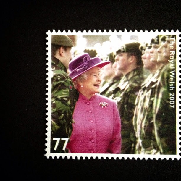 Day 13: Pink #royalty #queen #pink #soliders #army #stamp #postagestamp #postalsociety #psjune