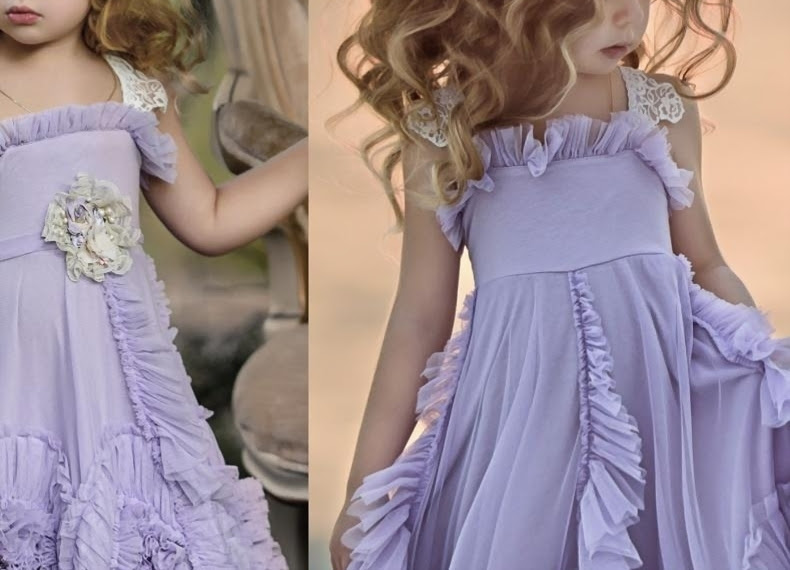 Dollcake Purple Flower Girl Dresses Ruffles Lace Tutu 2017 ...
