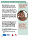 Sickle Cell Trait Fact Sheet cover