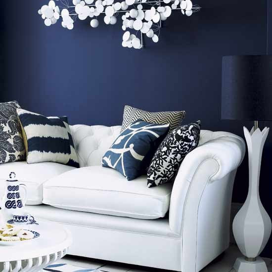 Living room with dark feature wall | Living rooms | Design ideas | Image | Housetohome