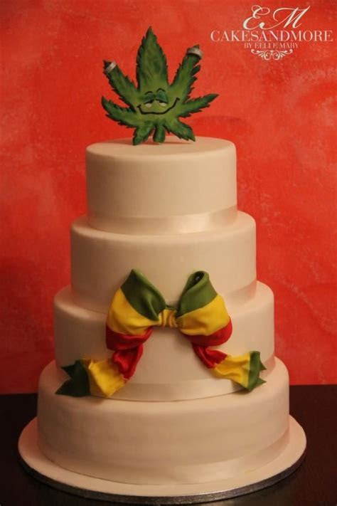 Reggae wedding cake #reggae #weddingcake #bow #jamaica