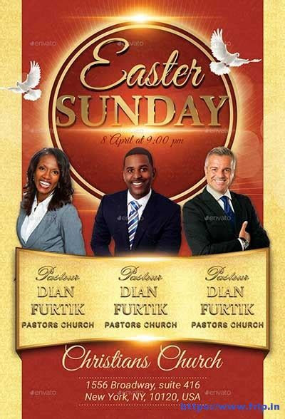 35 Best Easter Church Flyer Print Templates 2018   Frip.in