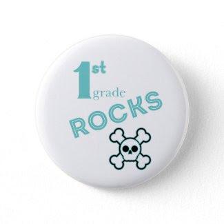1st Grade Rocks Button