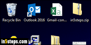 Change icon size on your Windows 7 desktop