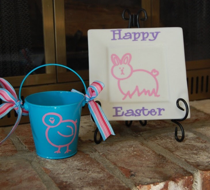 cute easter bunnies and chicks. Easter Bunny and Chick Vinyl