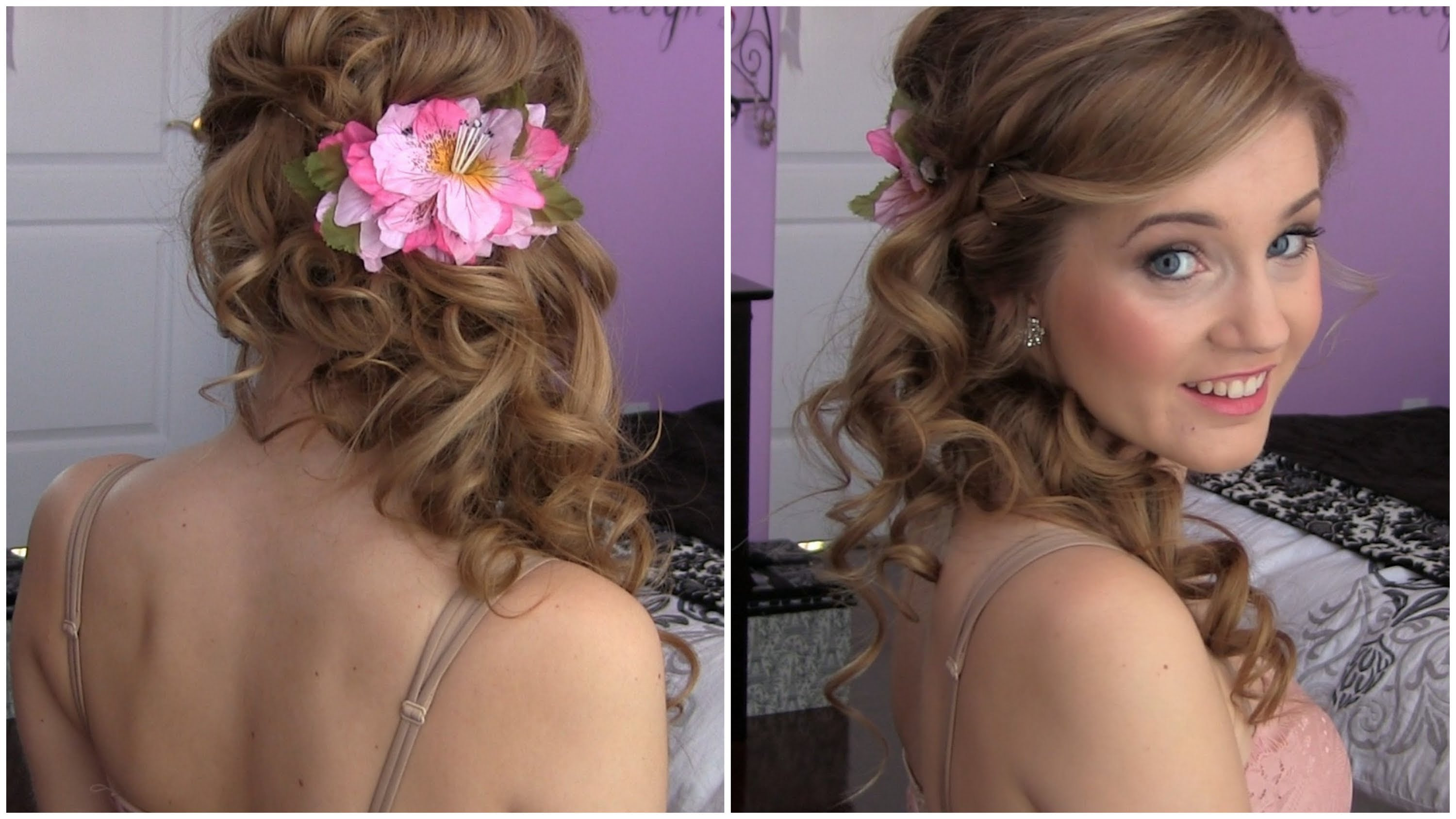 Cool Hairstyle 2014 Curly Hairstyles For Prom To The Side