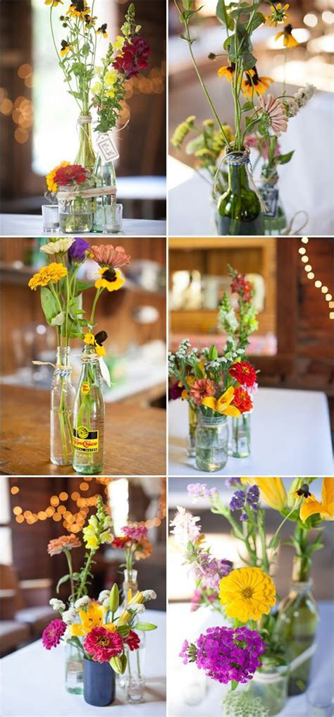 17 Best ideas about Bottle Centerpieces on Pinterest
