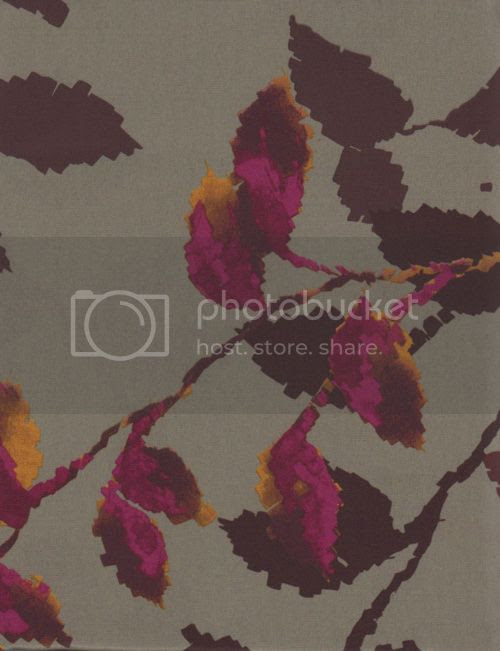 Purple Leaves Gray Fabric Bathroom Shower Curtain Gramercy Leaf ...