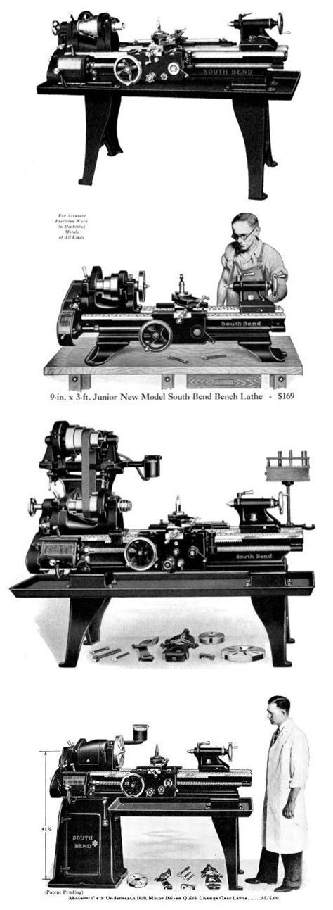 "SOUTH BEND 9""-24"" Revised Early Vintage Lathes Parts"