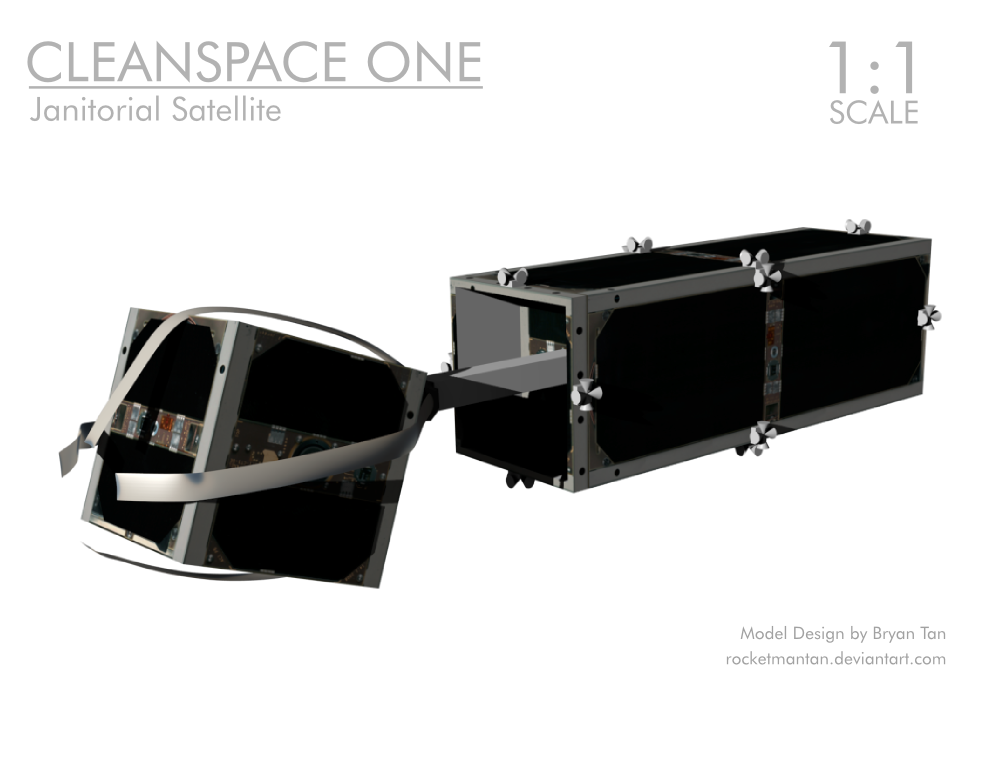 CleanSpace One Papercraft Janitor Satellite