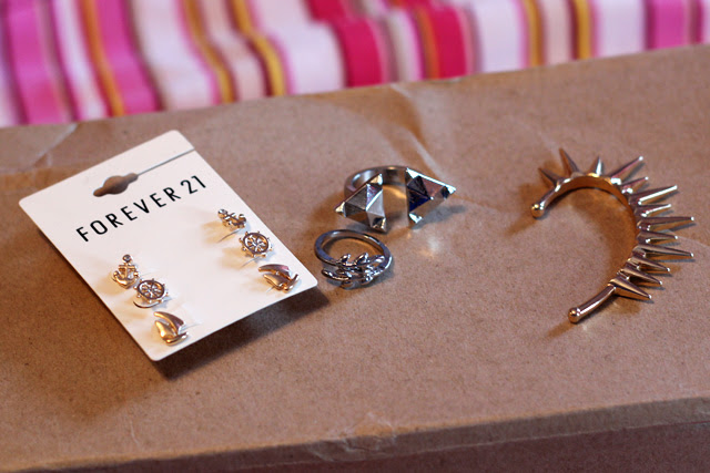 Nautical Earrings, Silver Rings, Spiked Ear Cuff