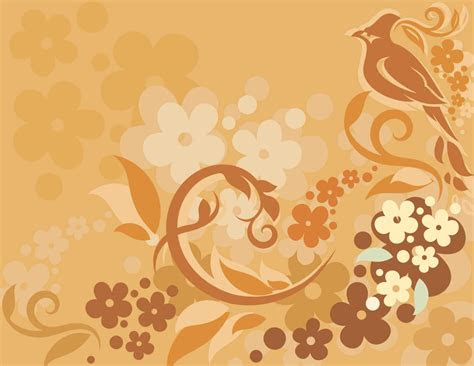 vector floral background bird   picture cdr file