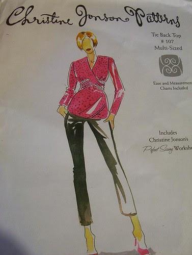 Tie Back Top #107, pattern envelope
