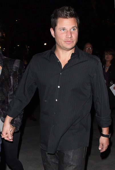 """72422, LOS ANGELES, CALIFORNIA, Saturday January 28, 2012, Nick Lachey and Vanessa Minnillo go to see Michael Jackson """"The Immoruol"""" World Tour by Cirque du Soleil at the Staples Center in Los Angeles. It has recently been announced that Cox will reunite on screen with her ex husband David Arquette when he appears on her hit series """"C Town&quot"""". Phoph: ©h: ©David Tonnessen, PacificCoastNews.com **FEE MUST BE AGREED PRIOR TO USAGE** **E-TABLET/IPAD & MOBILE PHONE APP PUBLISHING REQUIRES ADDITIONAL FEES** LOS ANGELES OFFICE:+1 310 822 0419 LONDON OFFICE:+44 20 8090 4079"""