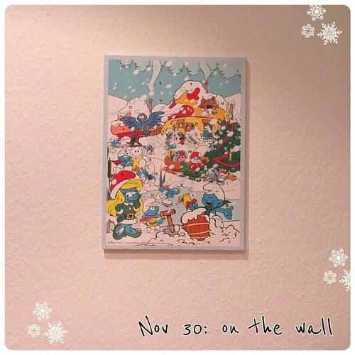 Nov 30: on the wall - my #advent #calendar #fmsphotoaday