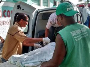 Menina chegou a ser atendida no posto de saúde de Ubaitaba e foi encaminhada para o hospital de Itabuna, mas não resistiu e morreu. (Foto: Jacson Cristiano/Ubaitaba Urgente)