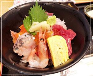 30℃超えの日の一人ランチは海鮮丼♪