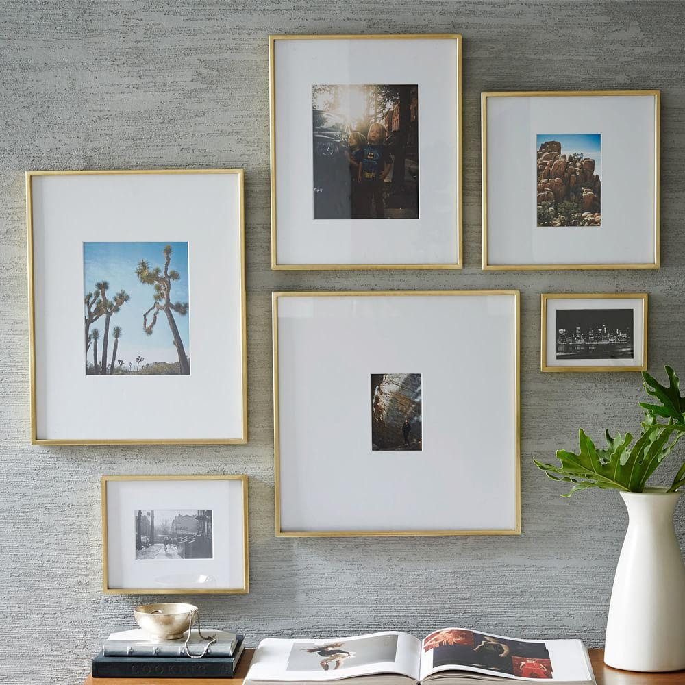 Gallery Frames Polished Brass West Elm Uk