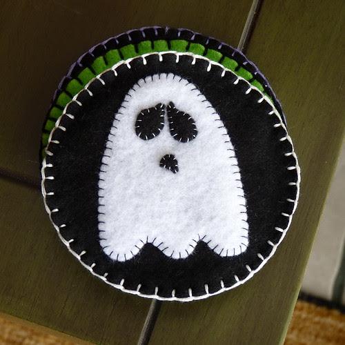 Felt Coasters - Ghostie