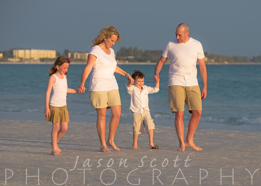 Moore Family on Siesta Key, April 2013