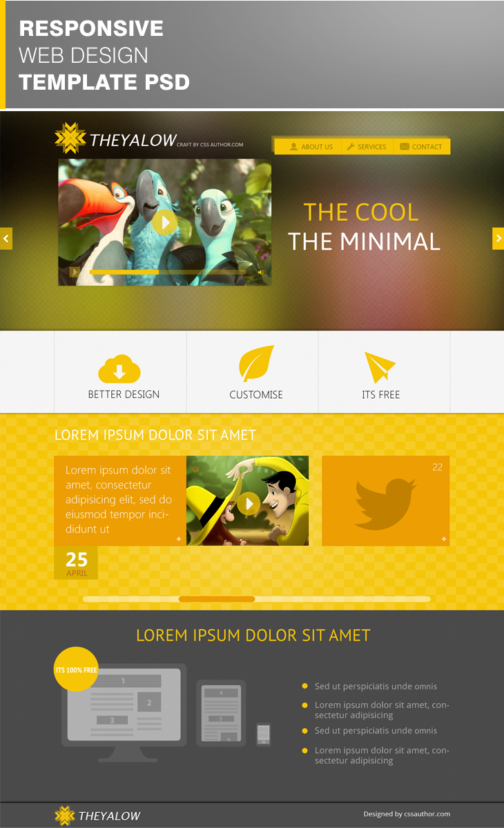 20 Beautiful Web Design Template PSD for Free Download - (Web design ...