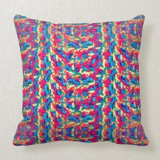 Crocheted Style on Throw Pillow